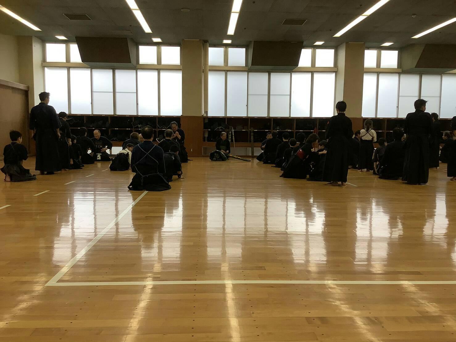 神戸市剣道連盟の稽古始めに参加しました